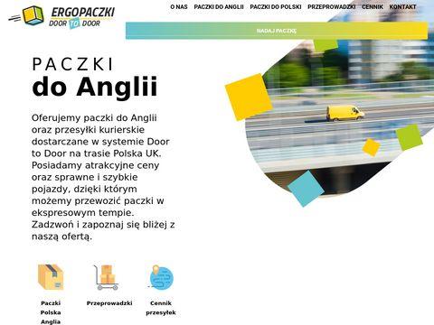 Paczkianglia.com.pl door to door