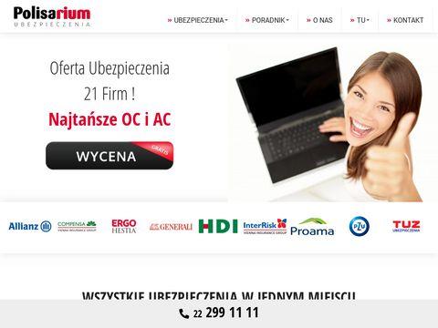Polisarium.pl ubezpieczenie samochodu