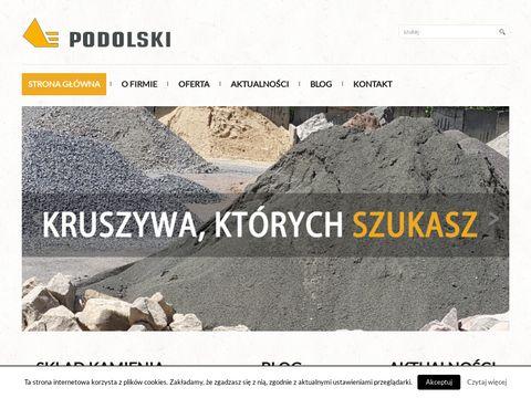 Podolski-kruszywa.pl skład