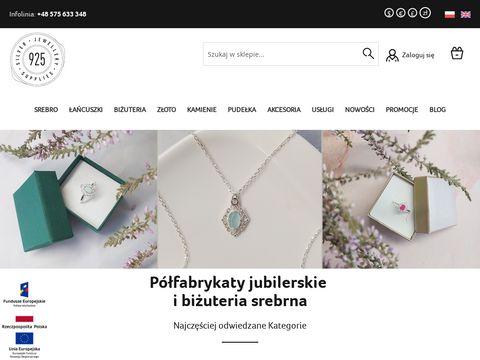 925.pl półfabrykaty ze srebra